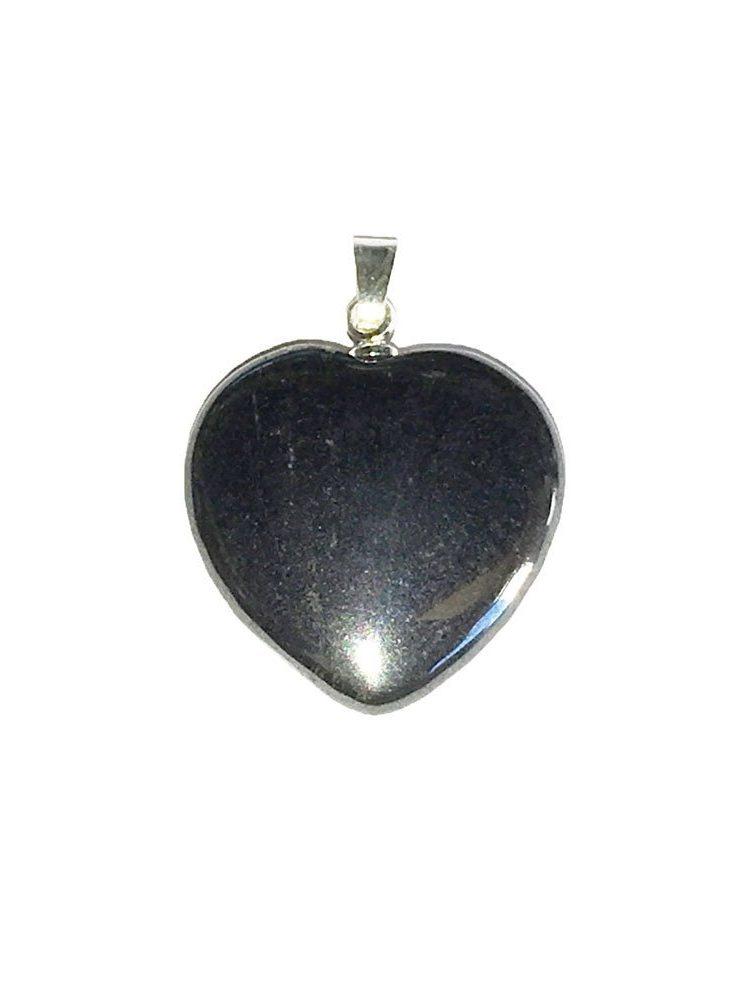 pendentif hematite petit coeur