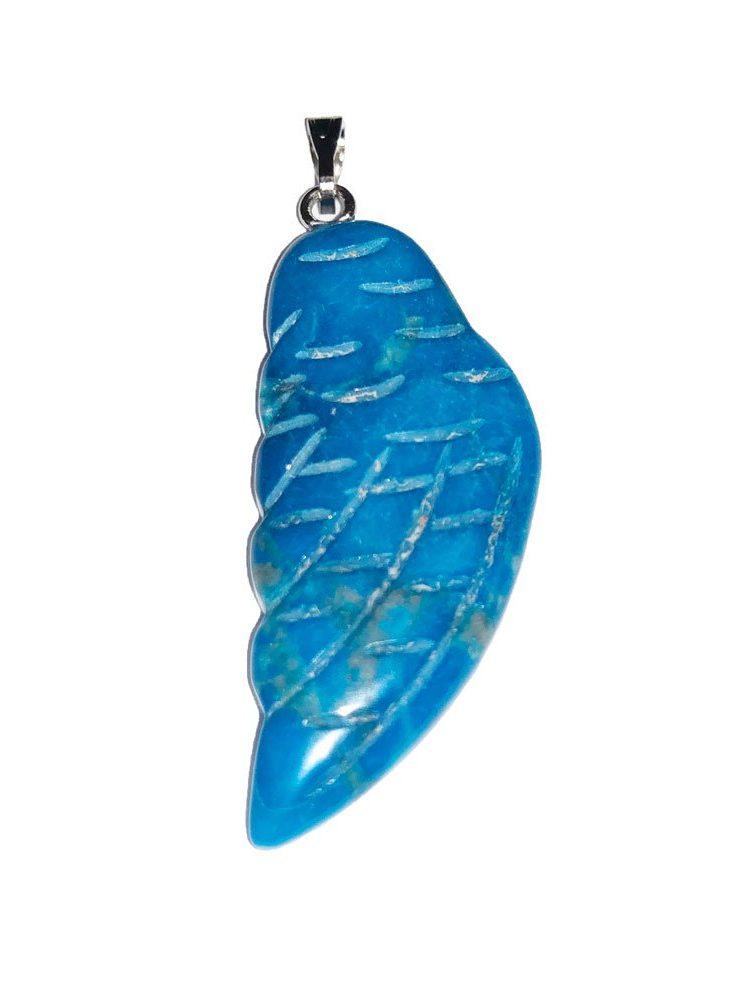 pendentif howlite bleue aile d'ange