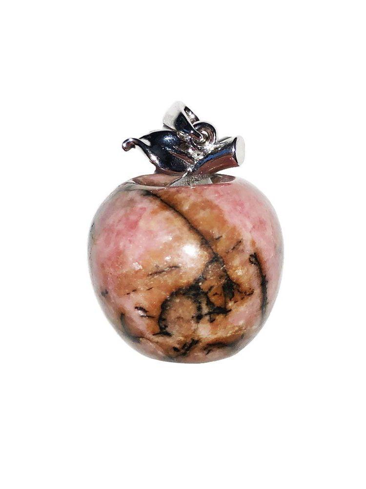 pendentif rhodonite pomme
