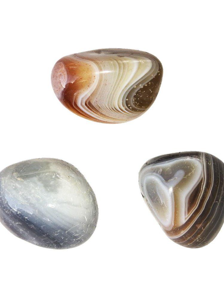 pierre roulée agate du botswana