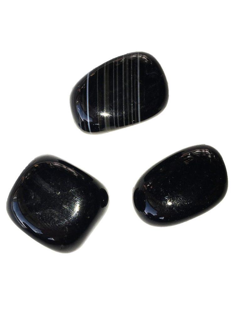 pierre roulée agate noire