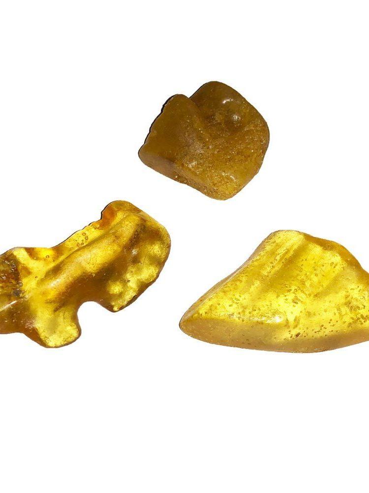 pierre roulée ambre