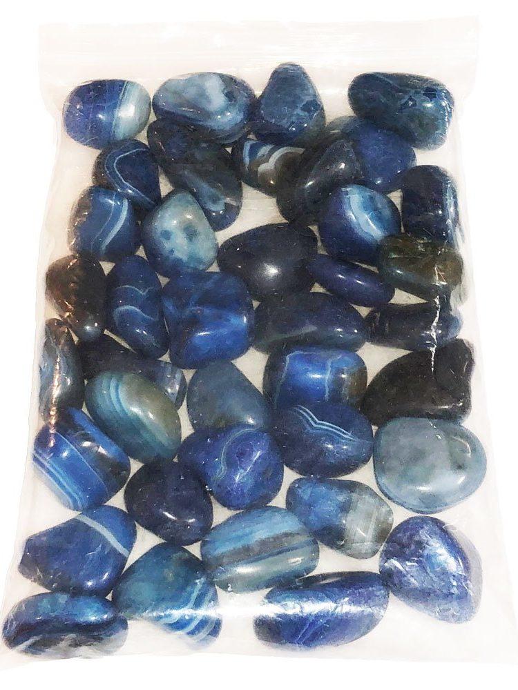 sachet pierres roulées agate bleue 1kg
