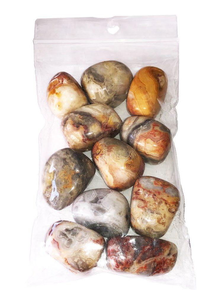 sachet pierres roulées agate crazy lace 250grs