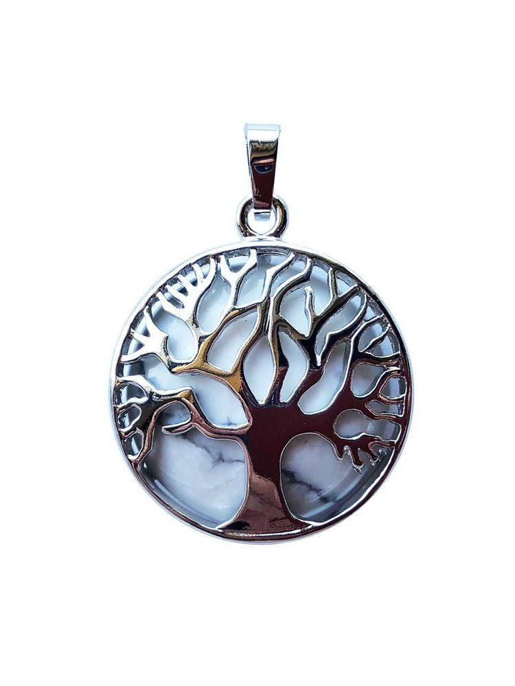 pendentif howlite arbre de vie
