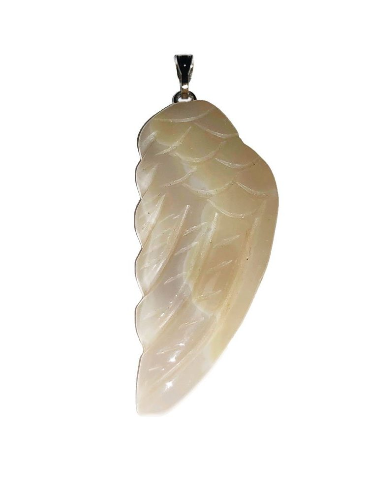 pendentif agate aile d'ange