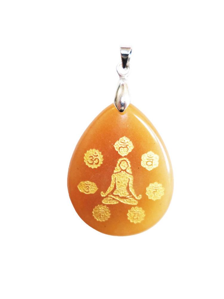 pendentif aventurine rouge yoga 7 chakras