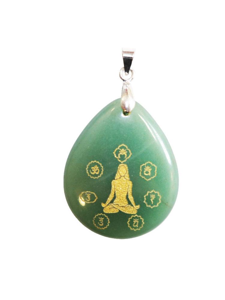 pendentif aventurine verte yoga è chakras