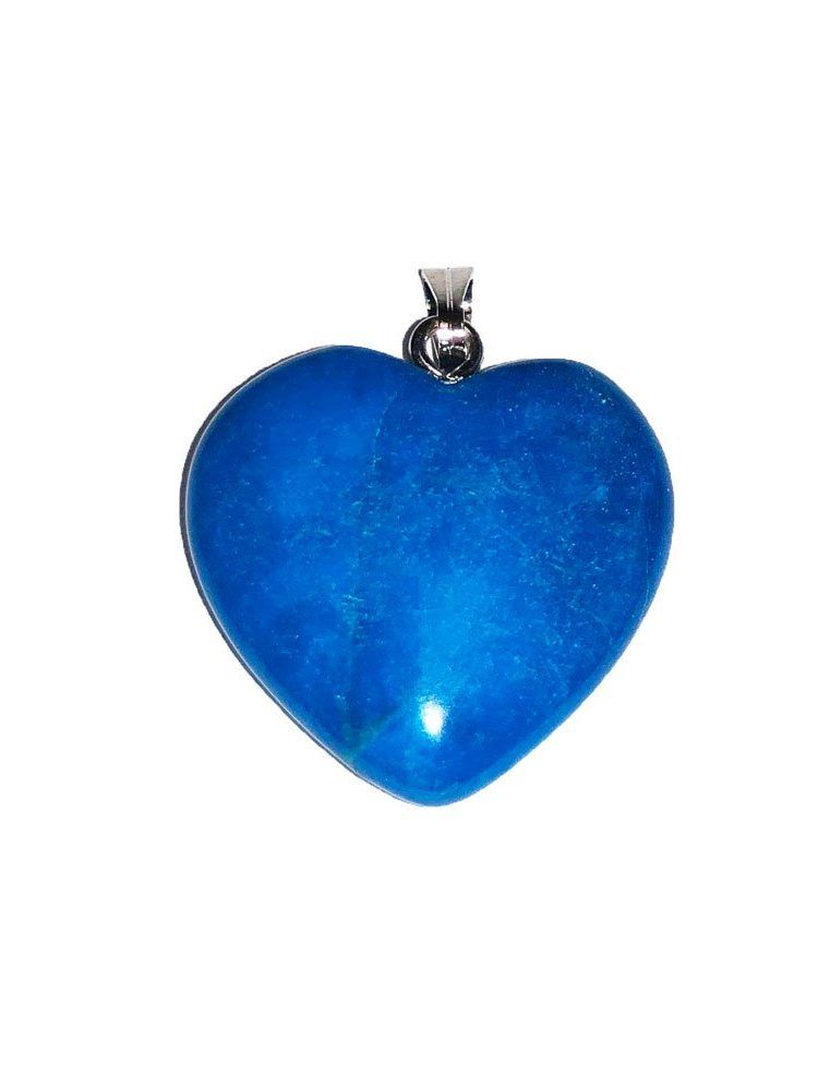 pendentif howlite bleue petit coeur