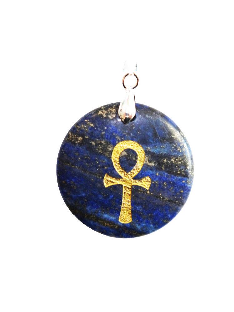 pendentif lapis lazuli croix égyptienne