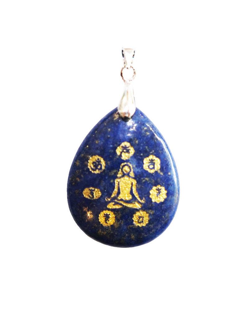 pendentif lapis lazuli yoga 7 chakras