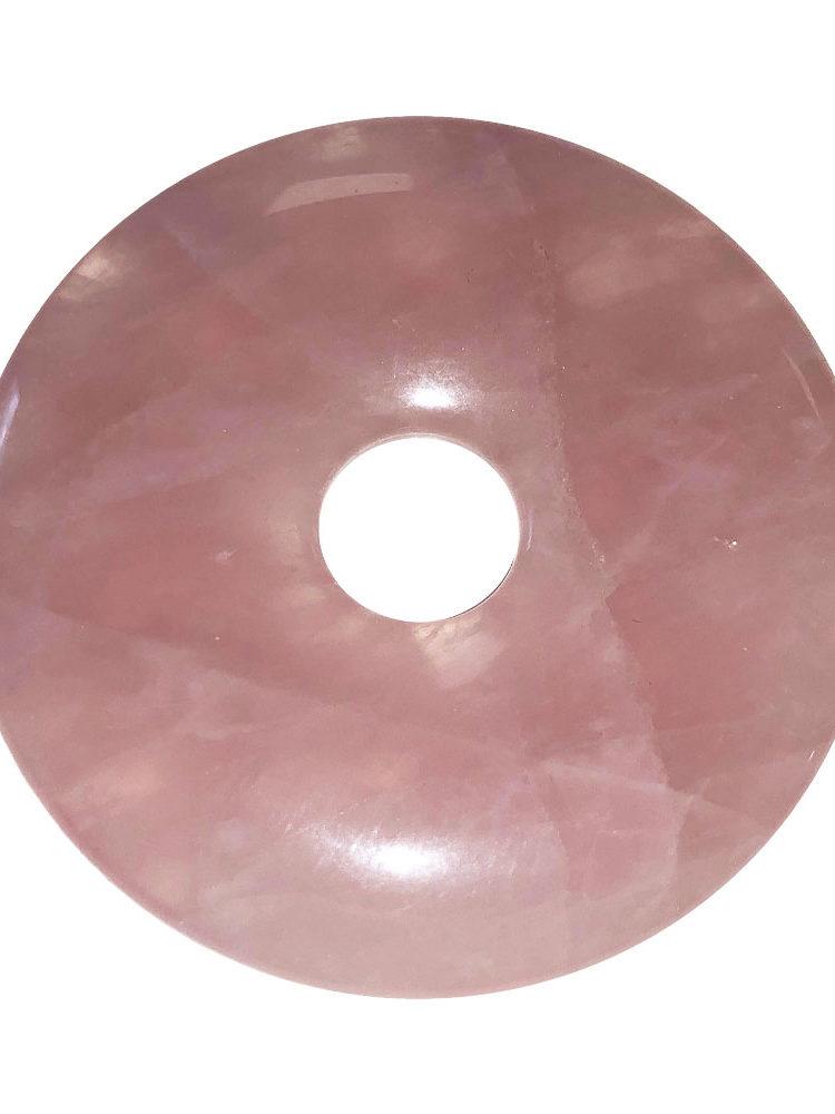 pendentif quartz rose pi chinois