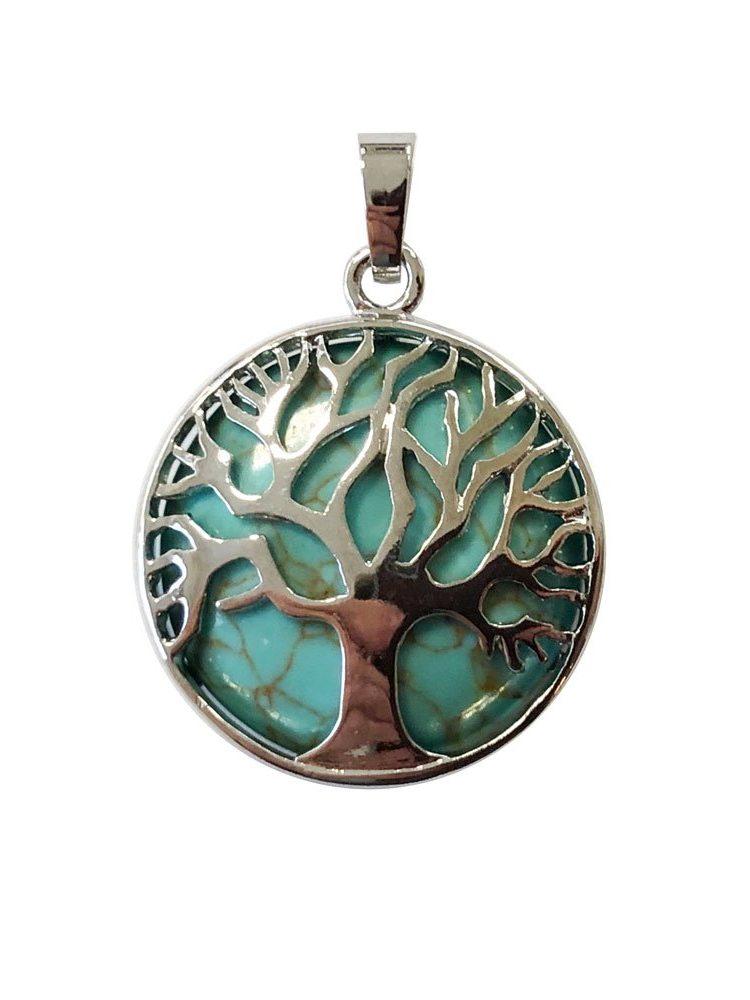 pendentif turquoise stabilisée arbre de vie