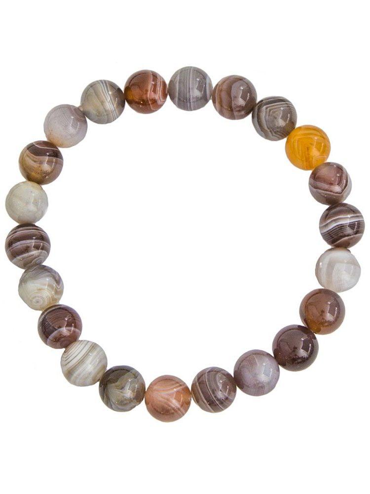 bracelet agate du botswana pierres boules 8mm