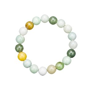 Bracelet Jade de birmanie - Pierres boules 10mm