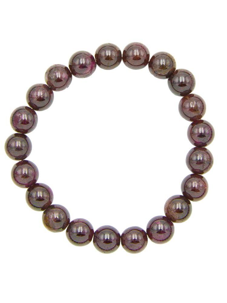 bracelet grenat rouge pierres boules 8mm
