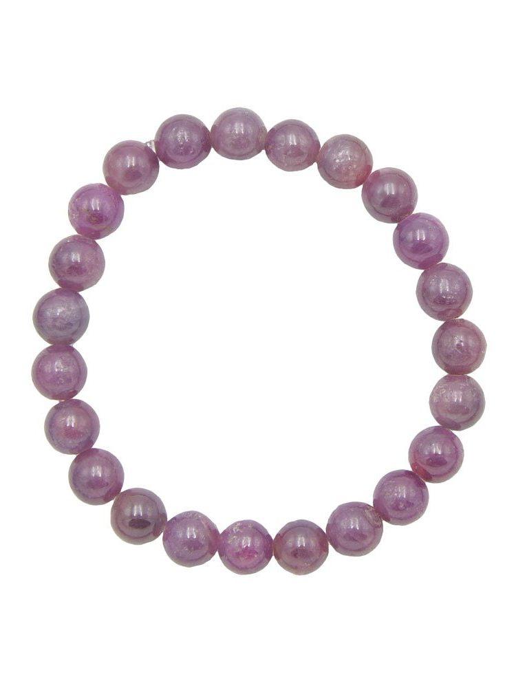 bracelet rubis pierres boules 8mm