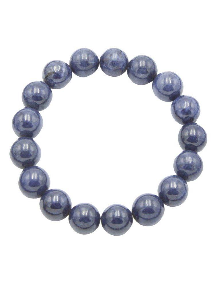 bracelet saphir pierres boules 10mm