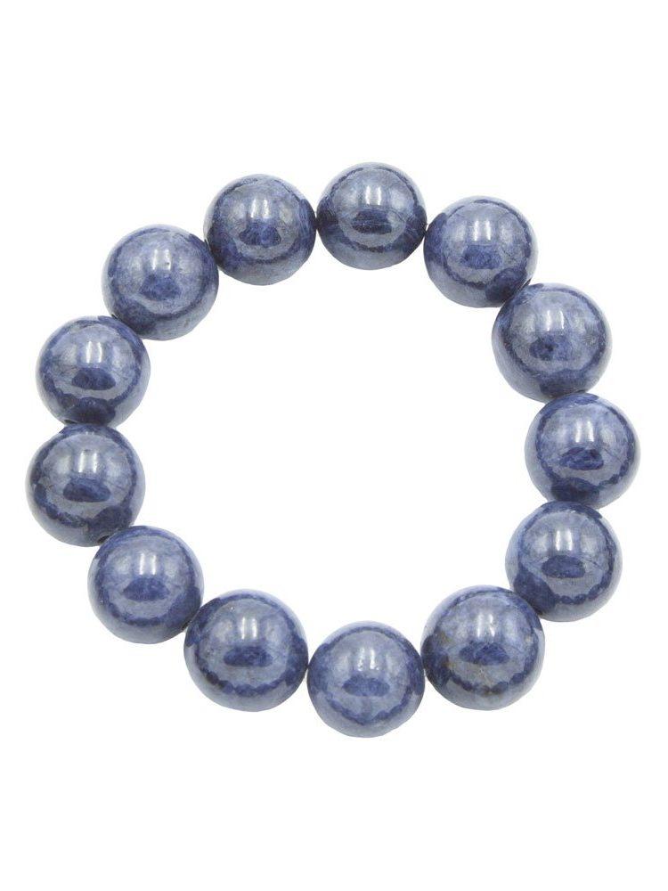 bracelet saphir pierres boules 14mm