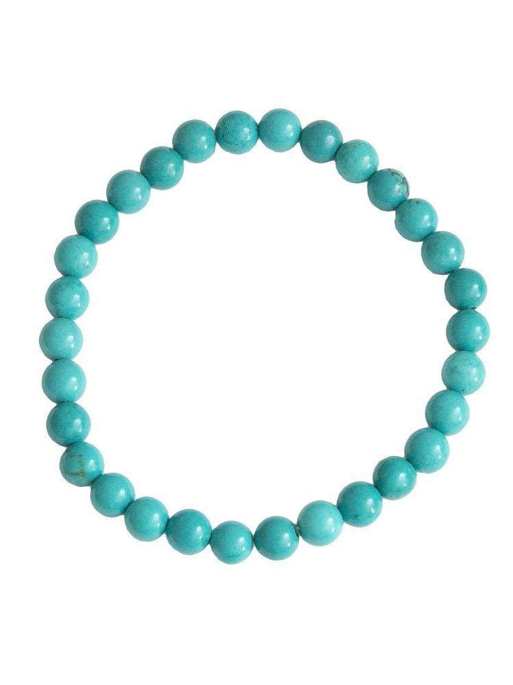bracelet turquoise pierres boules 6mm
